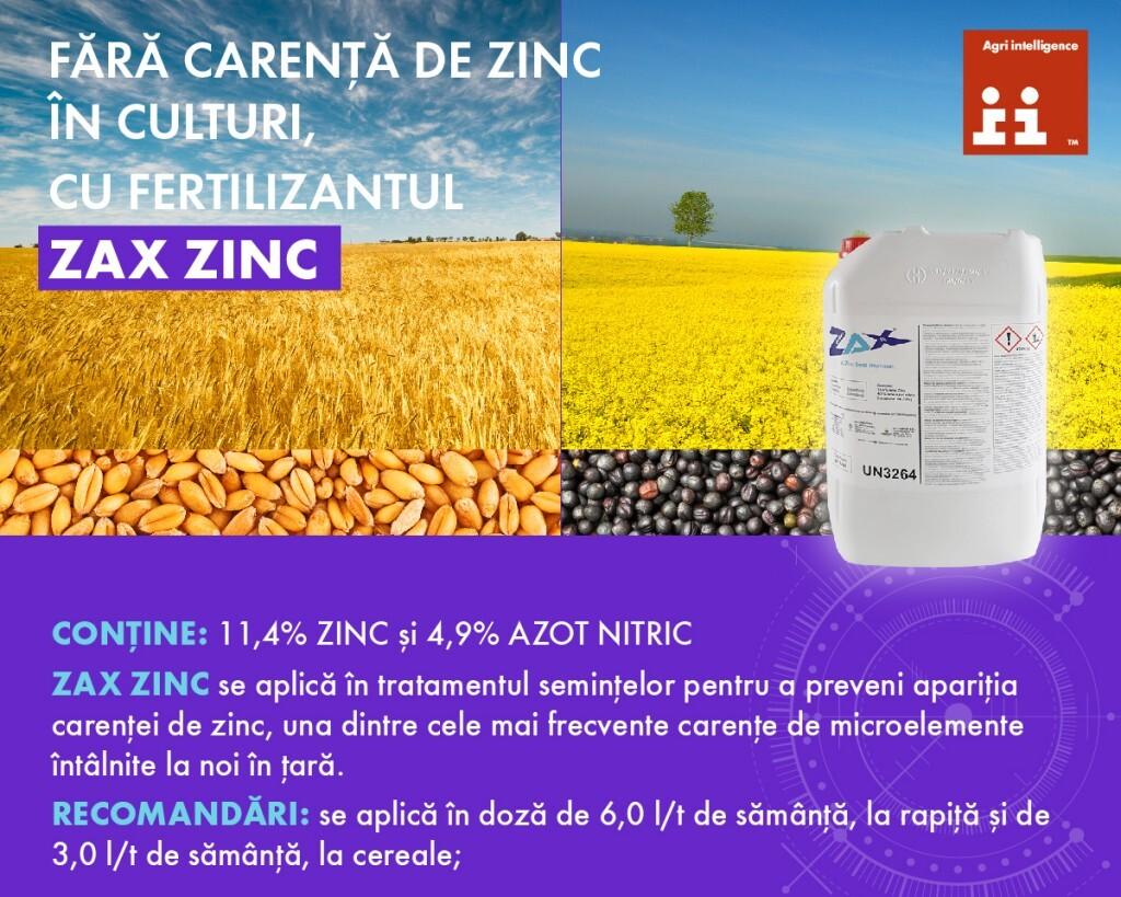 Carența de zinc, cea mai des întâlnită carență de microelemente din România