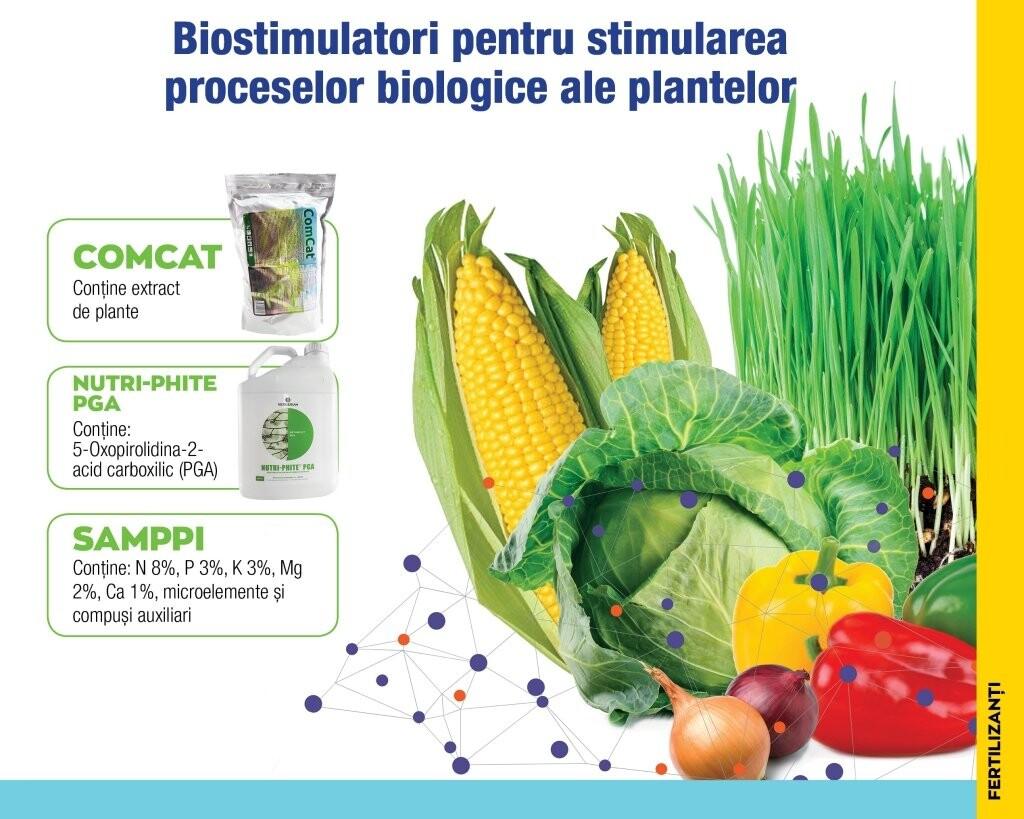 3 biostimulatori pentru stimularea proceselor biologice ale plantelor!