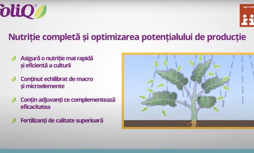 Avantajele utilizarii fertilizantilor din gama FoliQ !