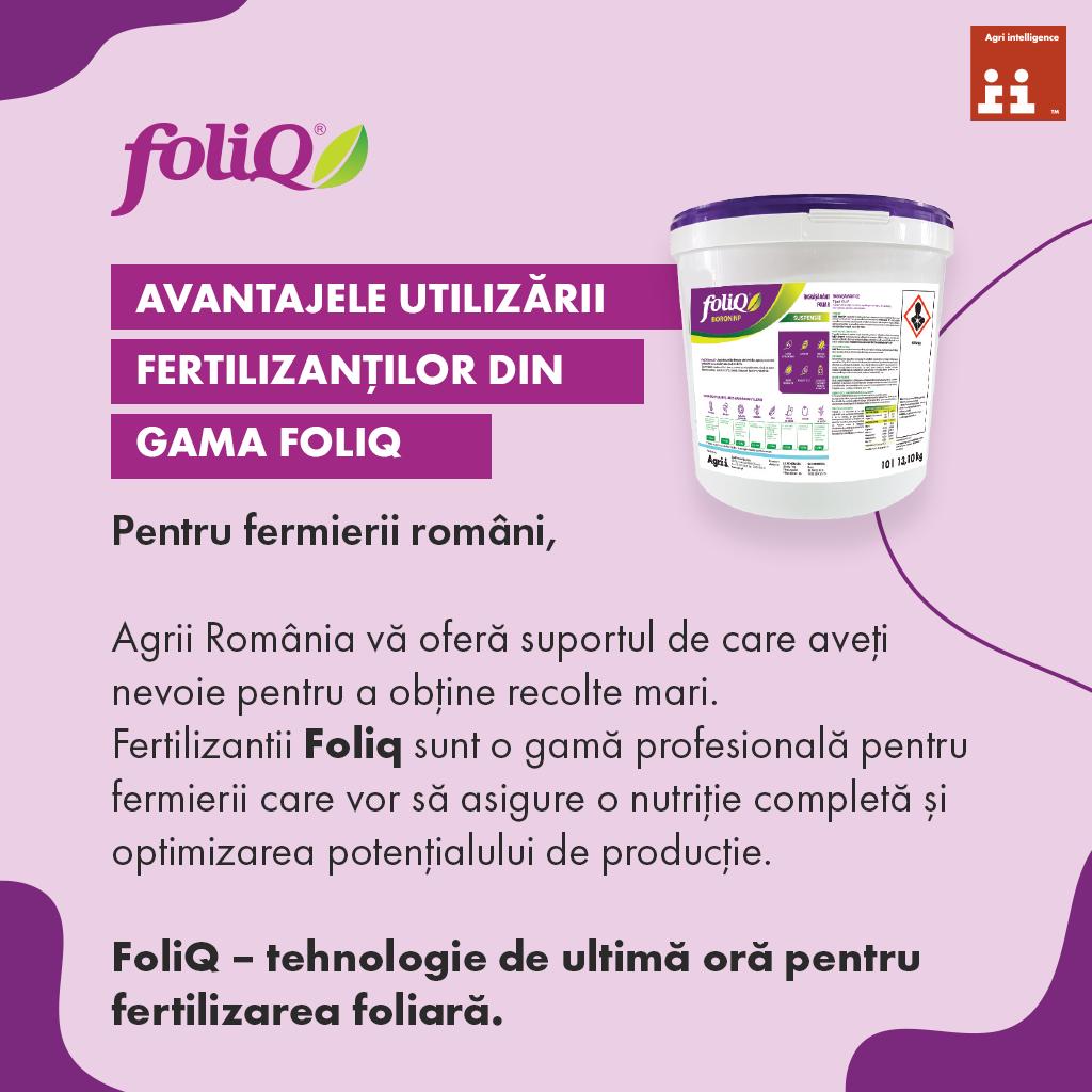 Fertilizantii din gama FoliQ