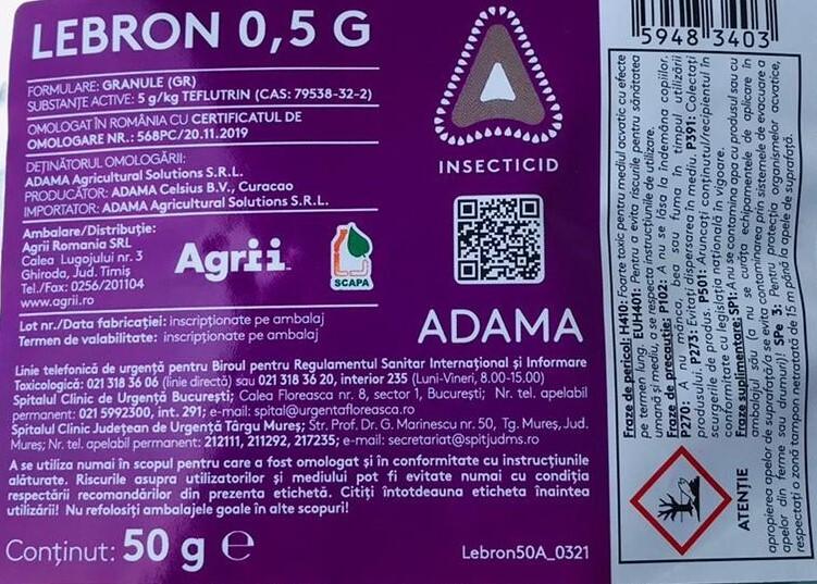 Lebron 0,5 G, aliatul fermierilor impotriva daunatorilor de sol!