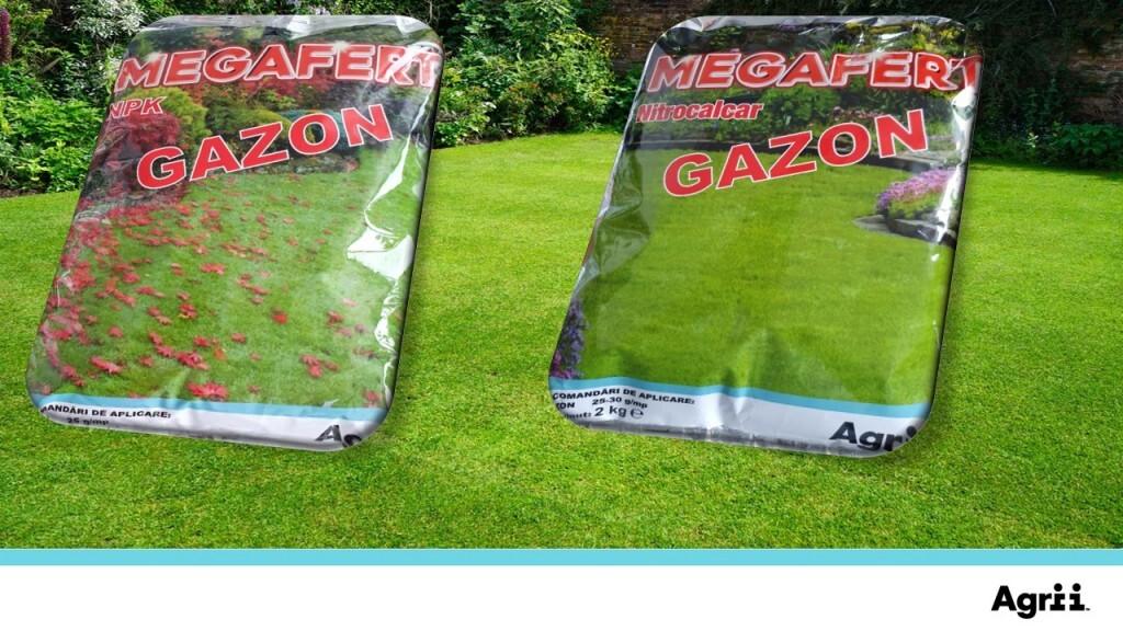 MEGAFERT NPK GAZON si MEGAFERT NITROCALCAR, recomandarea Agrii pentru un gazon impecabil!